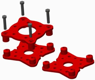 Snabbkopplingssats mellan rotatorn och gripen