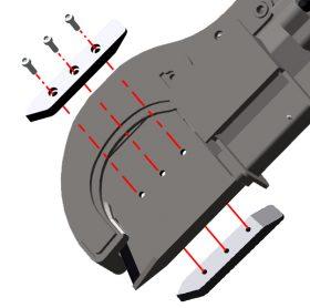 Klyvningutrustning till Naarva S23-stegmatare